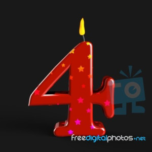 3adbd-number-four-candle